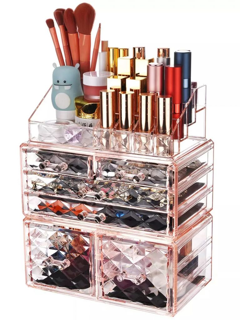 makeup storage box with drawers