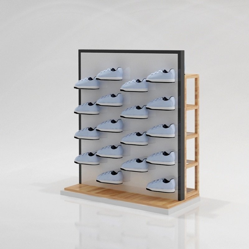wooden shoes rack